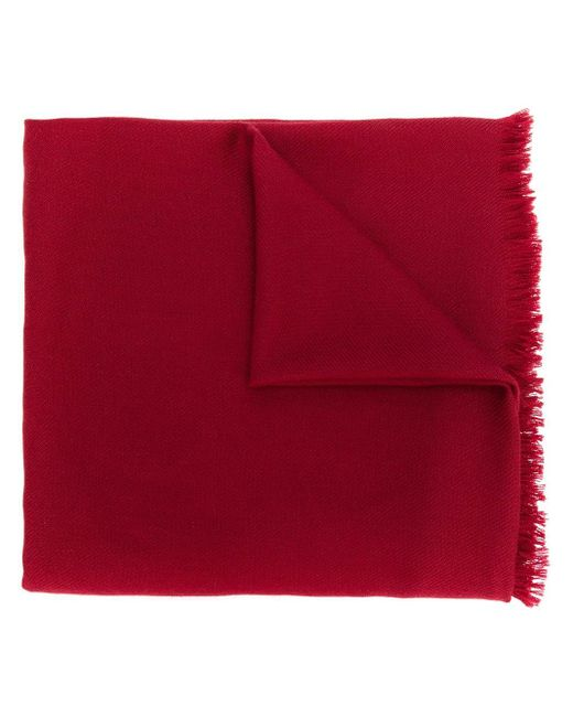 N.Peal Cashmere パシュミナ ショール Red
