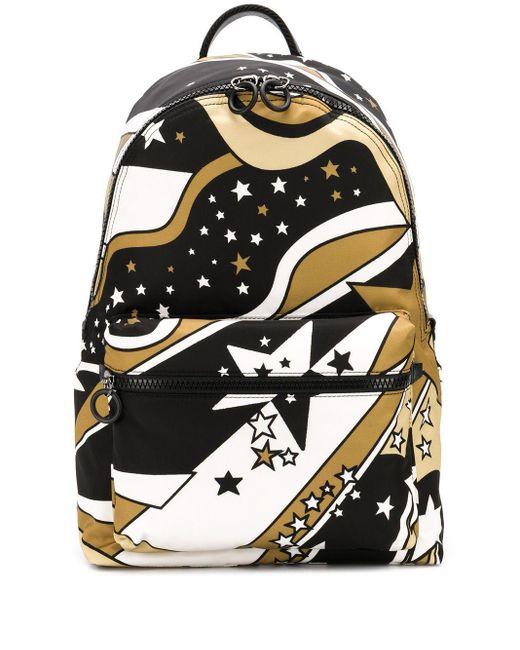 メンズ Dolce & Gabbana スタープリント バックパック Black