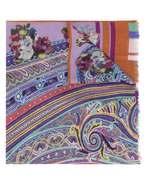 Etro Sciarpa Delhy スカーフ Multicolor