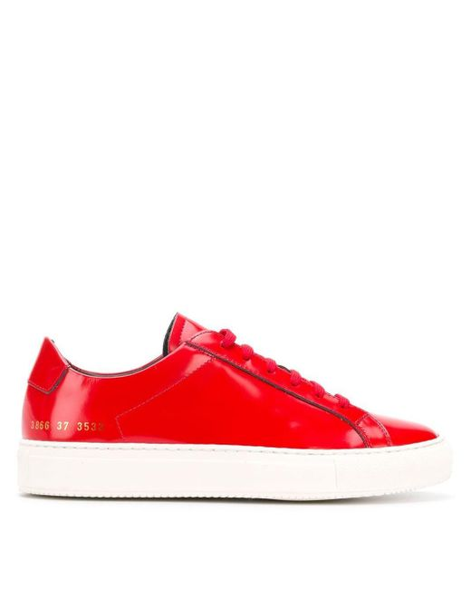 Common Projects Achilles Premium Low スニーカー Red
