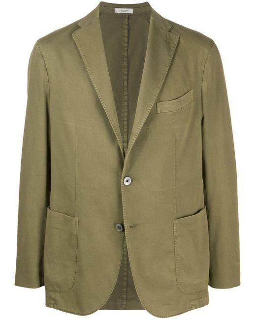 メンズ Boglioli シングルジャケット Green