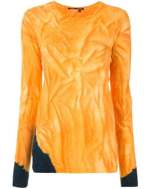 Proenza Schouler タイダイ ロングtシャツ Orange