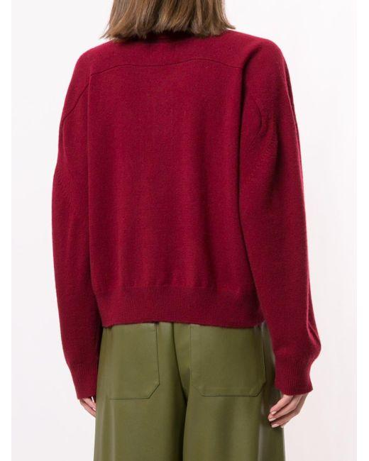 Loulou Studio ロングスリーブ ポロシャツ Red