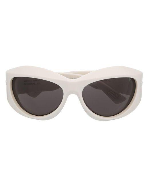 Bottega Veneta Bv1087s ラップ サングラス White