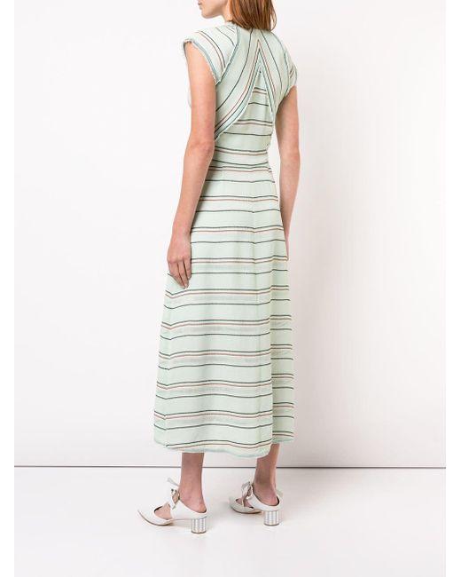 Proenza Schouler ストライプ ドレス Green