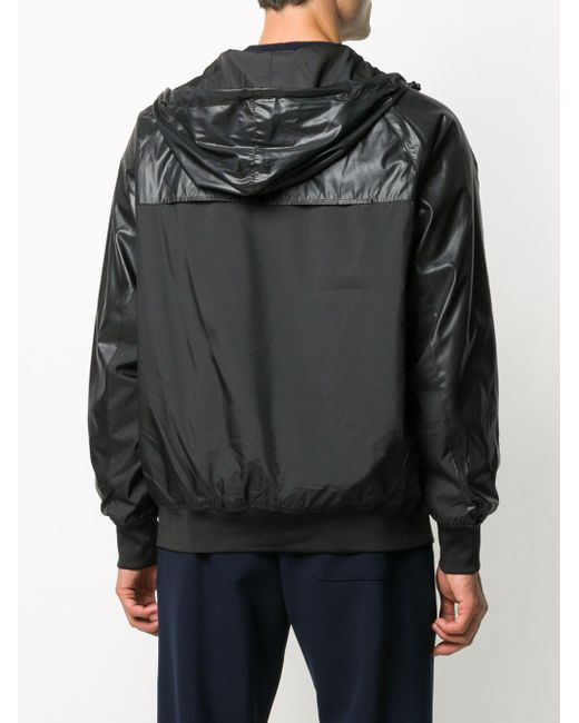 メンズ KENZO コントラストパネル ジャケット Black