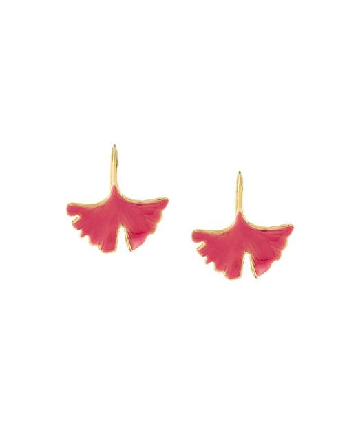 Aurelie Bidermann - Multicolor Ginkgo Leaf Tangerine Earrings - Lyst