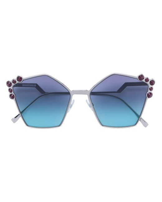 Fendi Metallic Can Eye Sunglasses