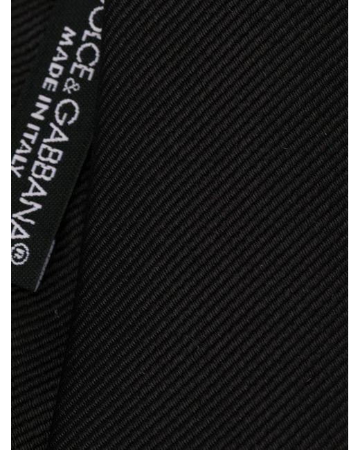 メンズ Dolce & Gabbana ジャカード ネクタイ Black