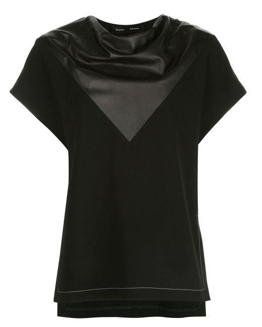 Топ Асимметричного Кроя Со Вставками Proenza Schouler, цвет: Black