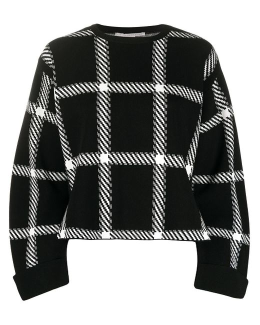 Stella McCartney ウィンドウペン スウェットシャツ Black