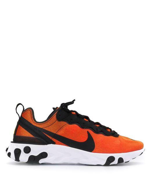 Nike React Element 55 スニーカー Orange