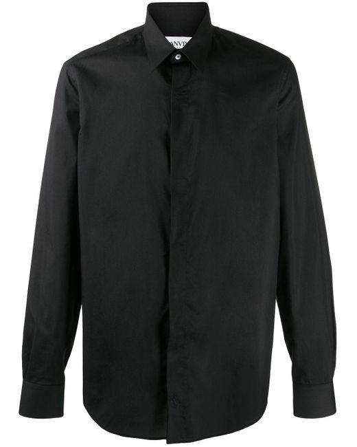 Lanvin Hemd mit verdeckter Knopfleiste in Black für Herren