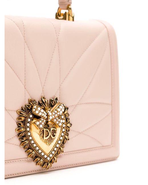 Dolce & Gabbana Devotion キルティング ハンドバッグ Pink