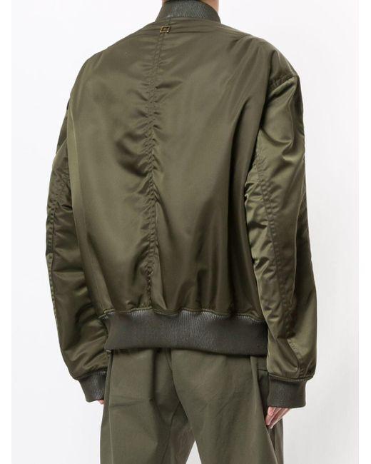 メンズ Wooyoungmi ジップ ボンバージャケット Green