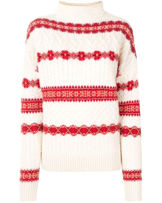 Altuzarra White Intarsia-knit Jumper