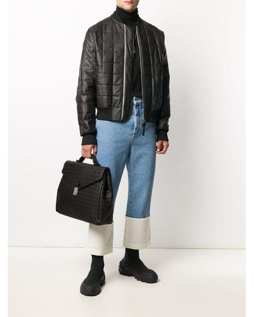 Стеганый Бомбер Bottega Veneta для него, цвет: Black