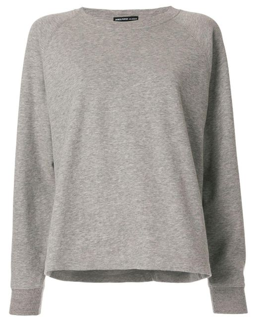 Pull à encolure ronde James Perse en coloris Gray