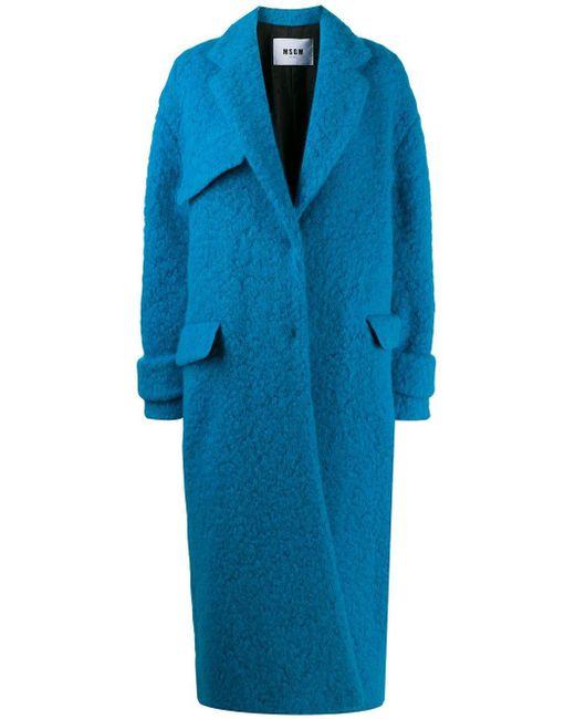 MSGM オーバーサイズ シングルコート Blue