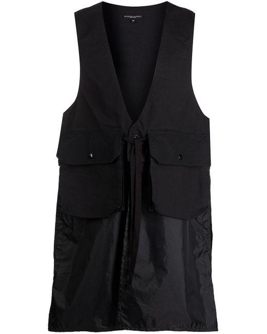 メンズ Engineered Garments ポケットディテール トップ Black