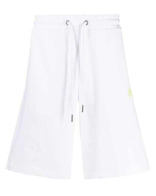Shorts sportivi con stampa di DIESEL in White da Uomo