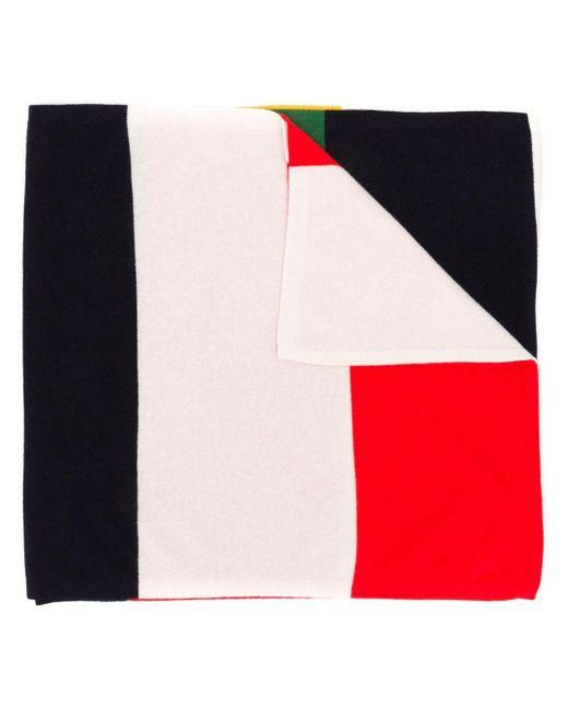 Chinti & Parker カラーブロック スカーフ Red