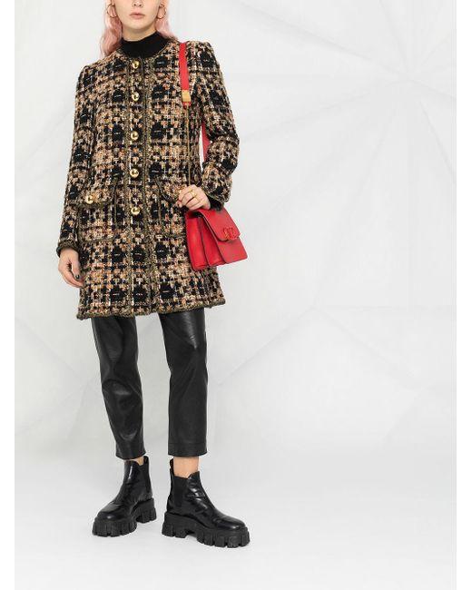 Dolce & Gabbana メタリック ツイードコート Multicolor