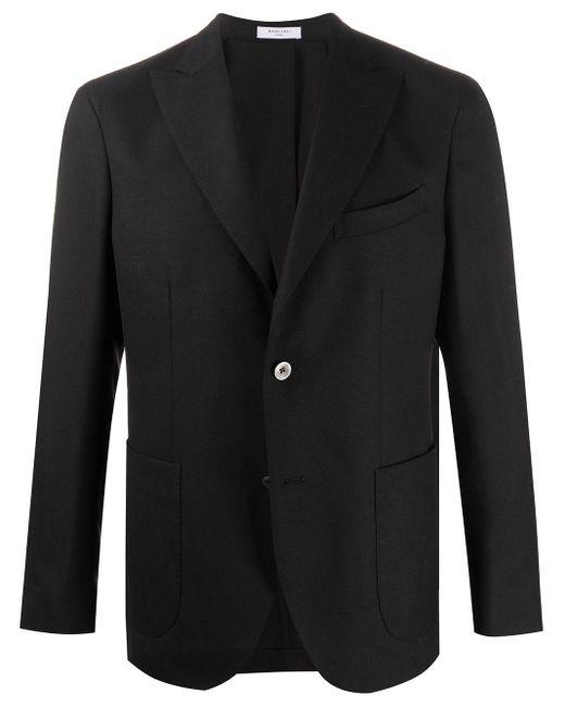 メンズ Boglioli テーラード シングルジャケット Black