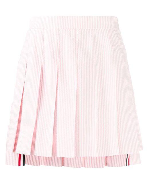 Thom Browne プリーツ ミニスカート Pink
