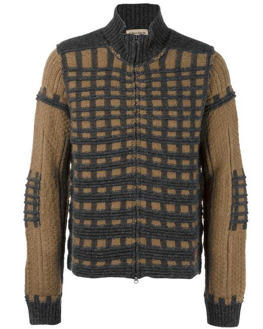 Al Duca D'aosta | Multicolor Check Knit Cardigan for Men | Lyst