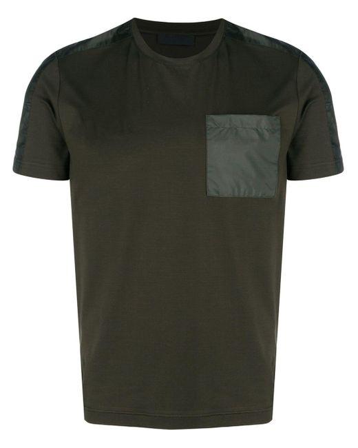 メンズ Prada コントラストポケット Tシャツ Multicolor