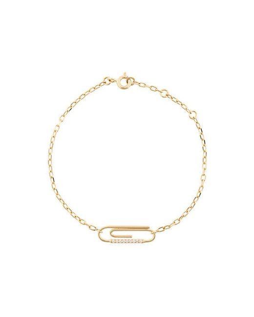 Aurelie Bidermann | Metallic 'paperclip' Diamond Bracelet | Lyst
