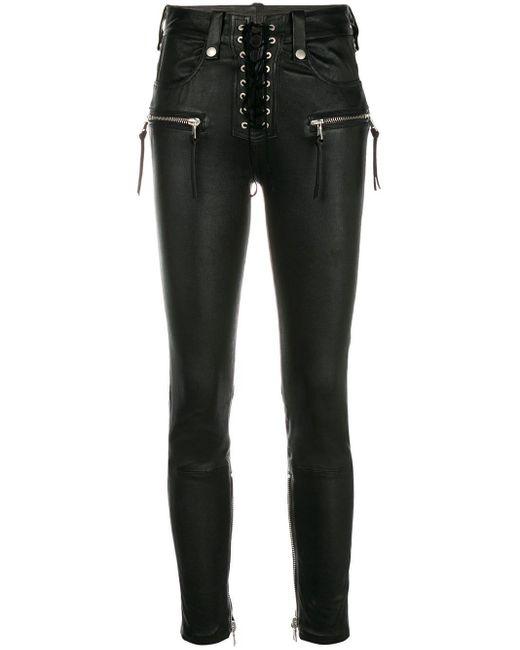 Unravel Project Black Skinny-Jeans mit Schnürung