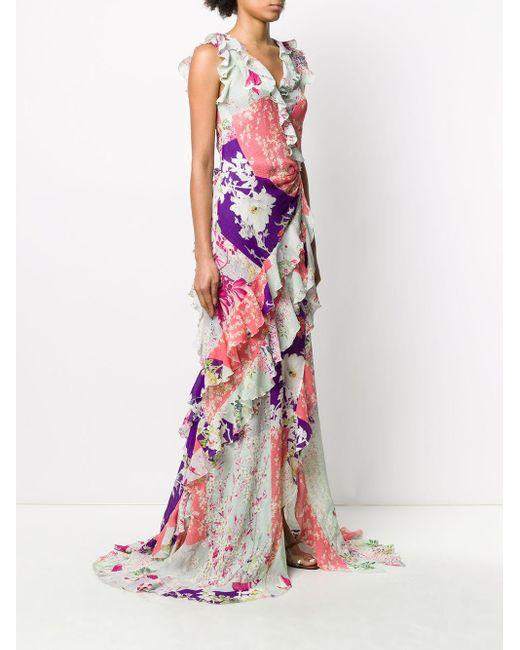 Etro パッチワークプリント ドレス Pink