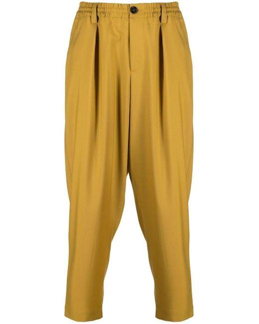 メンズ Marni ストレート イージーパンツ Yellow