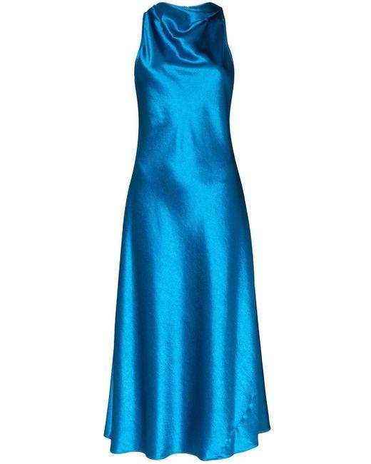 Sies Marjan ドレープネック ドレス Blue