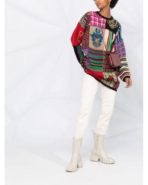 Etro パッチワーク セーター Multicolor