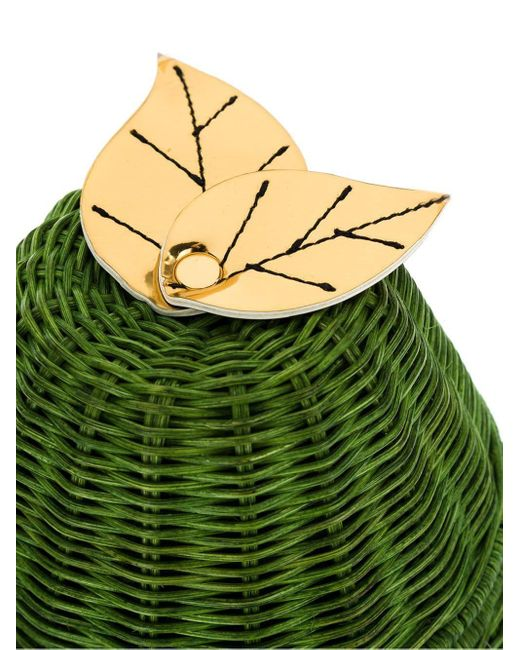 Соломенная Сумка Serpui, цвет: Green