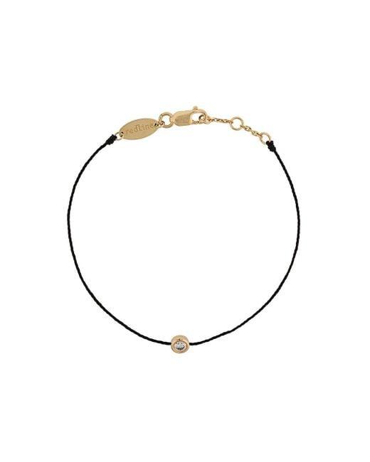RedLine Metallic 18kt Gold And Diamond Silk Cord Bracelet