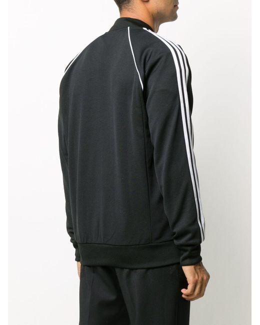 メンズ Adidas ストライプトリム トラックジャケット Black