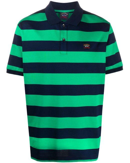 メンズ Paul & Shark ロゴ ポロシャツ Green