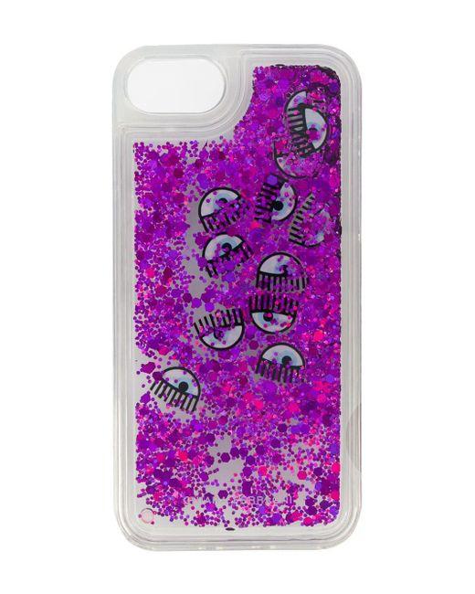 Chiara Ferragni Eyes Iphone 6s/7s カバー Purple
