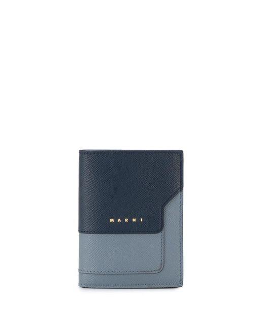 Marni Blue Colour Block Wallet