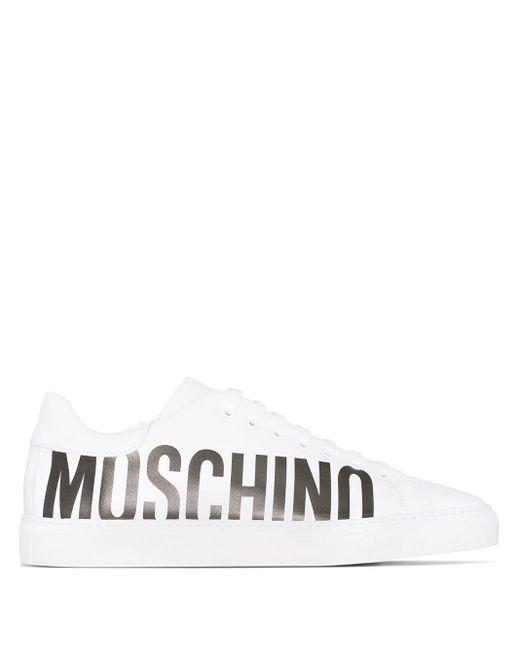 メンズ Moschino ロゴ スニーカー White