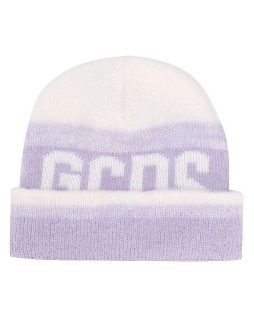Gcds ロゴ インターシャ ビーニー Purple