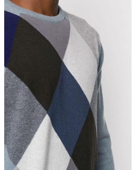 メンズ Pringle of Scotland カシミア アーガイル セーター Blue