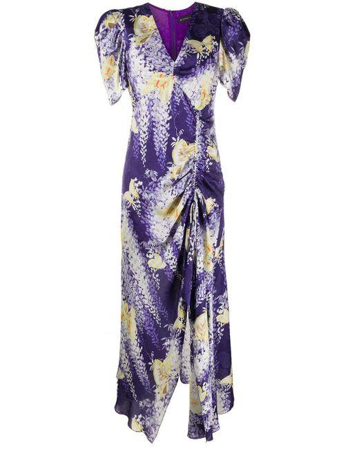Etro フローラル ドレス Purple