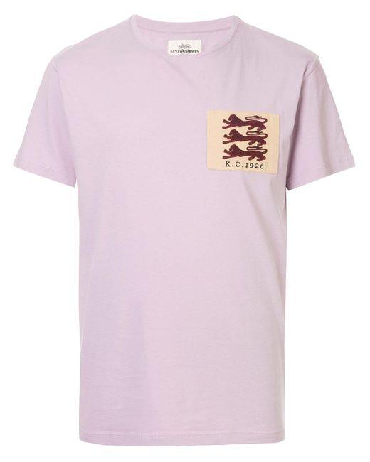 メンズ Kent & Curwen Lion Tシャツ Purple