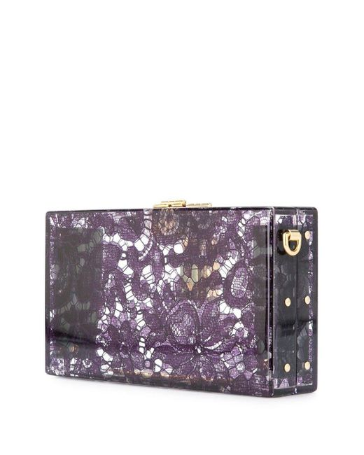 Клатч Dolce Box Dolce & Gabbana, цвет: Purple