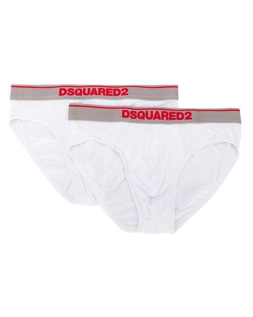 Комплект Из Двух Трусов-брифов С Логотипом DSquared² для него, цвет: White